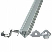 Eck-Aluminiumprofil 45 ALU 2m Set