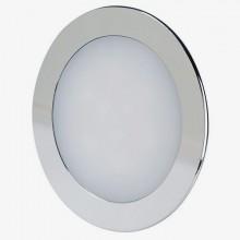 LED Einbaupanel aus Chrom rund 18W