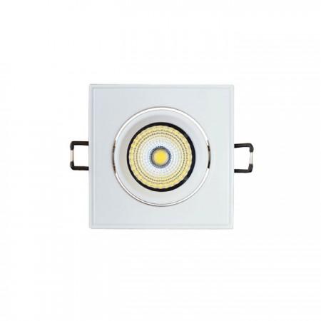 Eckige LED Einbauleuchte 3W kippbar/weiß