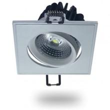Eckige LED Einbauleuchte kippbar/weiß 5W