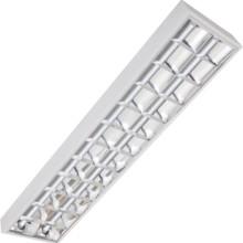 Rasterleuchte 120x30cm für 2Stk.18W LED Röhren T8
