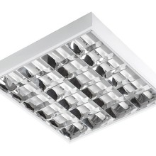 Rasterleuchte 60x60cm für 4Stk. 10W LED Röhren T8