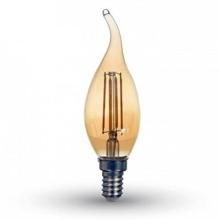 Jantar LED Filament Glühlampe E14 4W Flamme