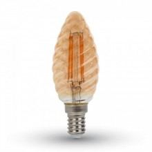 Jantar LED Filament Twist Glühlampe E14 4W