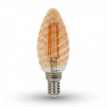 Jantar LED Filament Twist Glühlampe E14 4W