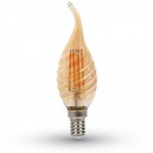 Vintage LED-Lampe Filament Flamme E14 4W Twist