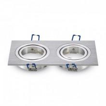 Zweifacher Aluminium Rahmen für Glühlampen eckig
