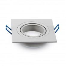 Aluminium Rahmen für Glühlampen eckig/weiß