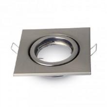 Satin-Nickel Metall Rahmen für Glühlampen eckig