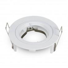 Kleiner Aluminium Rahmen für Glühlampen rund/weiß
