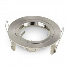 Kleiner Satin-Nickel Aluminium Rahmen für Glühlampen rund