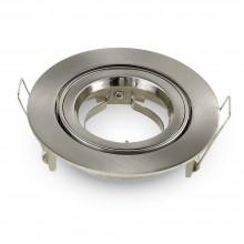 Großer Satin-Nickel Aluminium Rahmen für Glühlampen rund