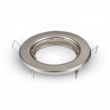 Satin-Nickel Metall Rahmen für Glühlampen rund