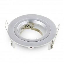 Kleiner Aluminium Rahmen für Glühlampen rund/silber
