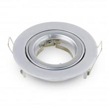 Großer Aluminium Rahmen für Glühlampen rund/silber