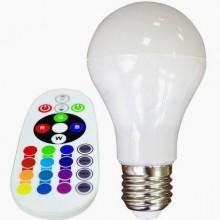 RGB+W LED Glühlampe A60 6W mit Fernbedienung