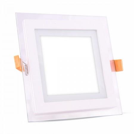 LED Einbaupanel aus Glas eckig 6W
