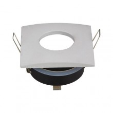 Wasserdichter Rahmen für GU10 Glühlampen eckig/weiß
