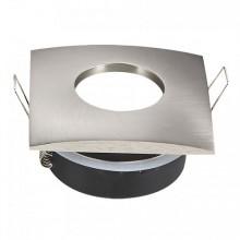 Wasserdichter Satin-Nickel Rahmen für GU10 Glühlampen eckig