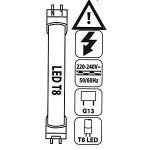 Markierung der T8 Leuchte