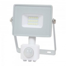 Profi LED Strahler 10W mit Bewegungsmelder mit SAMSUNG Chips weiß