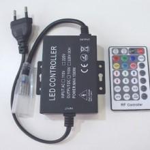 Versorgungskabel für neon flex RGB LED Streifen 230V 2m mit RF Fernbedienung