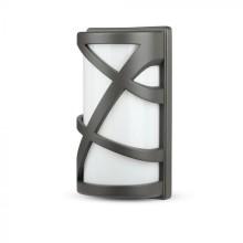 Außenwandleuchte für E27 LED-Lampe, grau