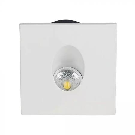 Einbau LED-Treppenbeleuchtung 3W eckig, weiß