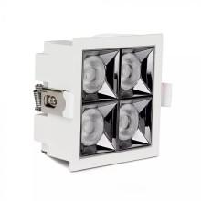 LED-Einbauleuchte 16W, 38°, eckig, weiß, SAMSUNG Chips CRI90