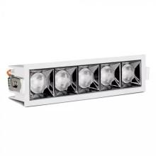 LED-Einbauleuchte 20W, 12°, eckig, weiß, SAMSUNG Chips CRI90