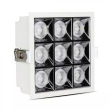 LED-Einbauleuchte 36W, 38°, eckig, weiß, SAMSUNG Chips CRI90